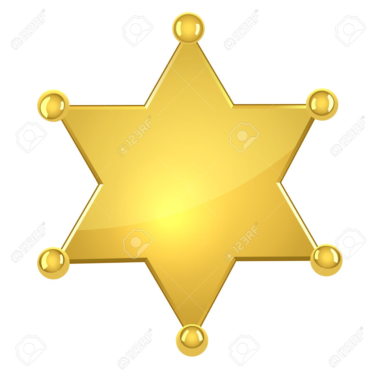 1300x1300 Police Badge Star