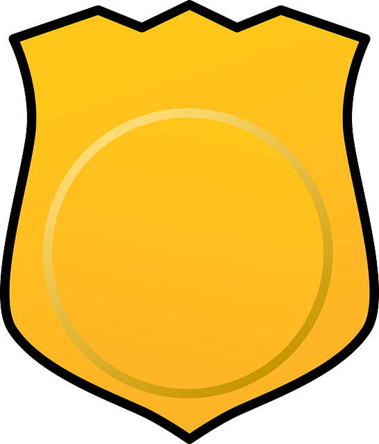 546x640 Police Badge Sheriff Badge Gallery For Blank Police Outline