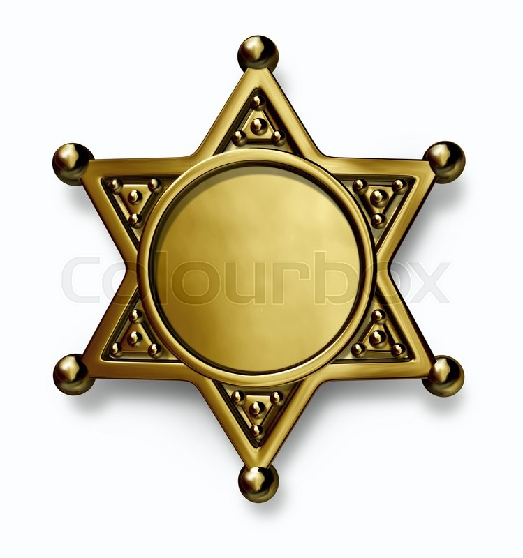 749x800 Sheriff And Police Brass Or Gold Metal Badge With Blank Center As
