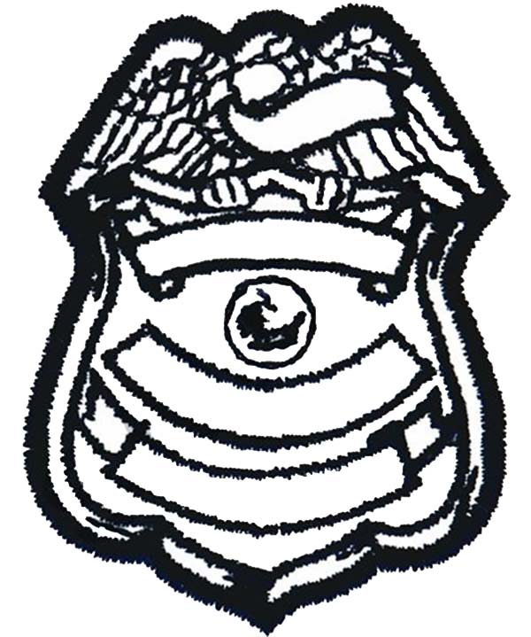 600x719 Blank Police Badge Coloring Page Coloring Sky