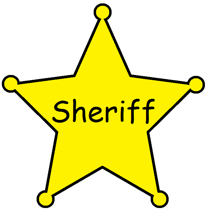 682x693 Blank Sheriff Badge Clip Art
