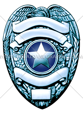 279x385 Support Police Badge Production Ready Artwork For T Shirt Printing
