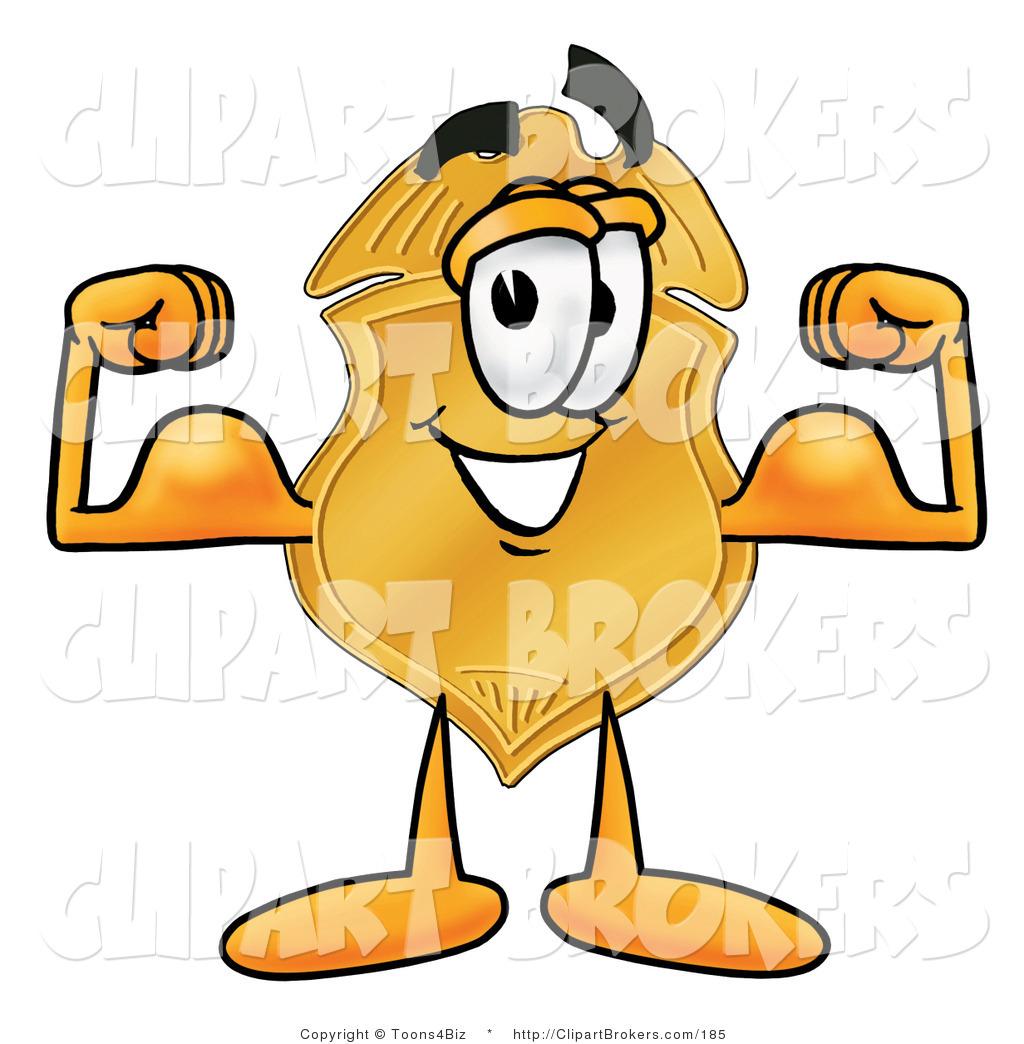 1024x1044 Clip Art Cartoon Of A Gold Police Badge Mascot Cartoon Character