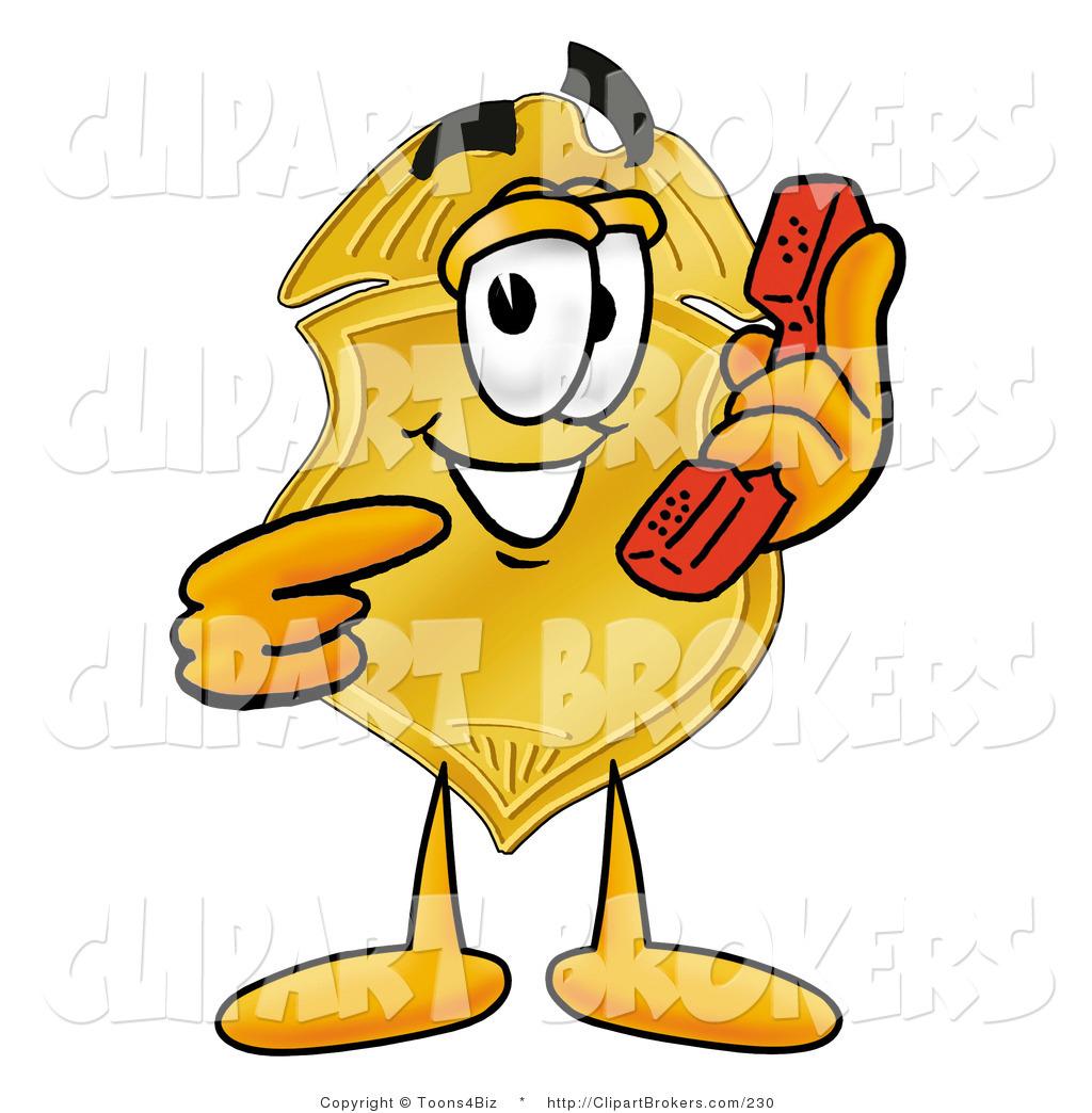1024x1044 Clip Art Cartoon Of A Police Badge Mascot Cartoon Character