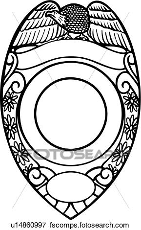 289x470 Clip Art Of , Badge, Cop, Department, Deputy, Emergency, Emergency