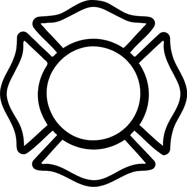 600x600 Firefighter Clipart Cross