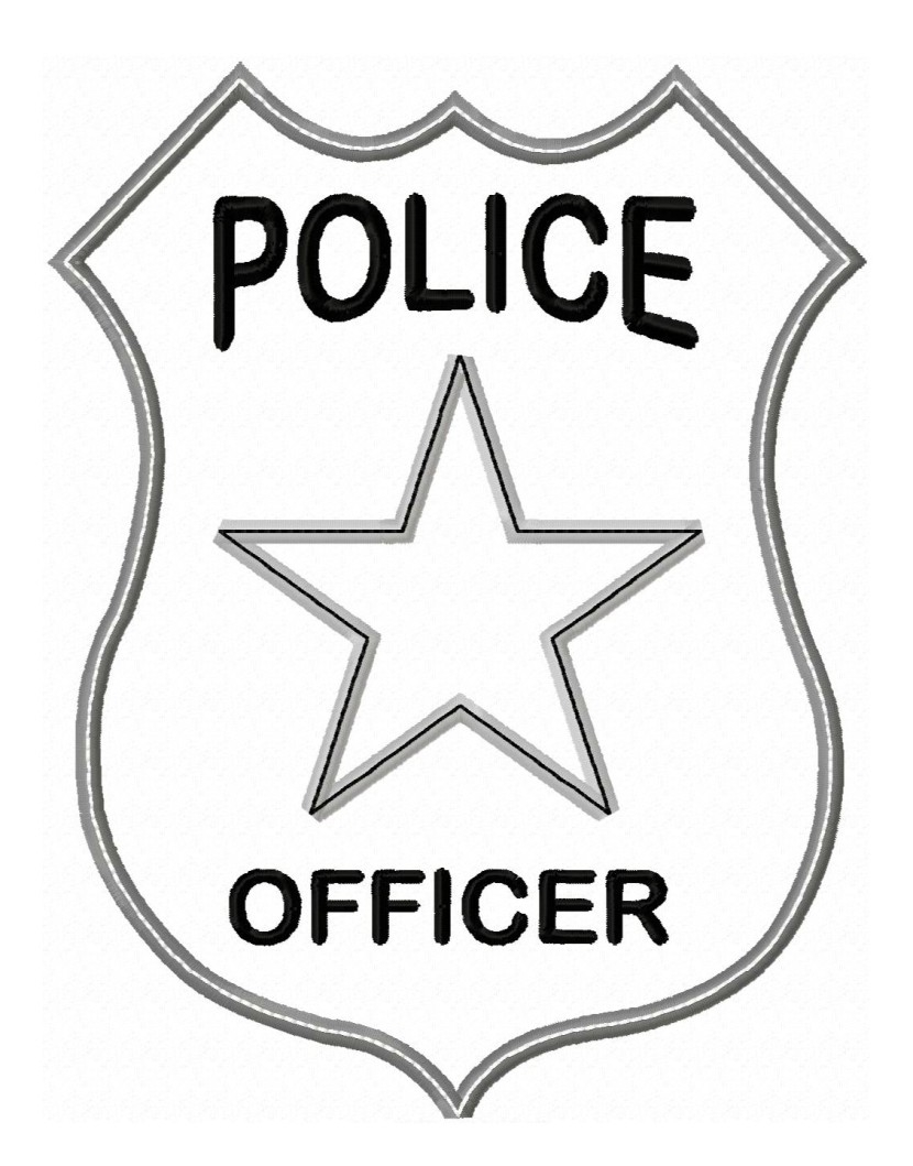 830x1059 Police Badges Clipart
