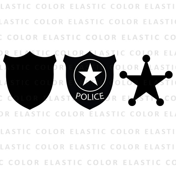570x550 Police Badge Svg File