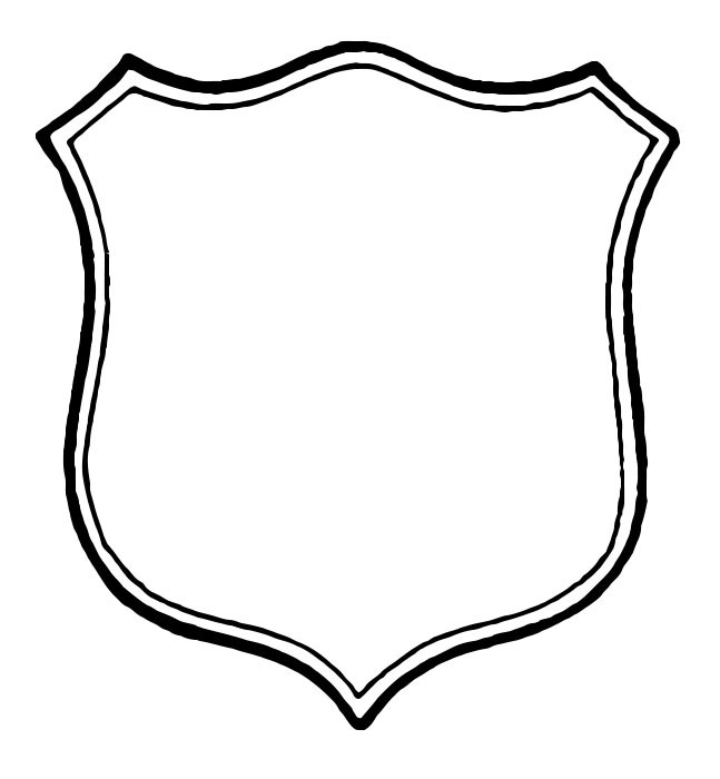 647x700 Sheriff Badge Gallery For Black And White Police Badge Clip Art