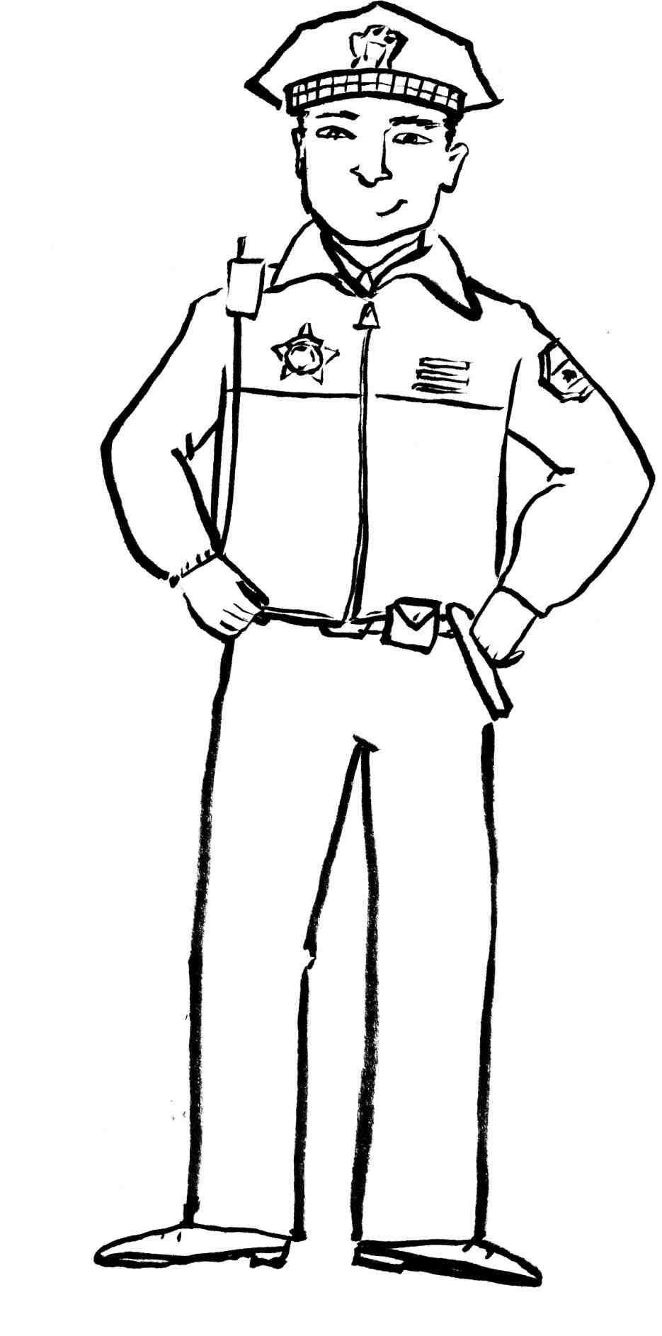 935x1886 Police Officer Badge Drawing