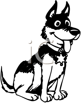 275x350 Dog Police Badge Clipart