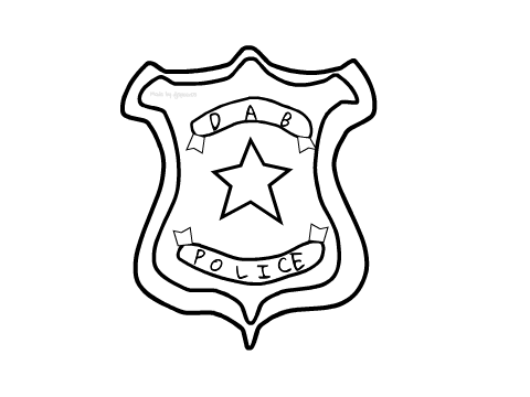 480x360 Dab Police Badge On Scratch