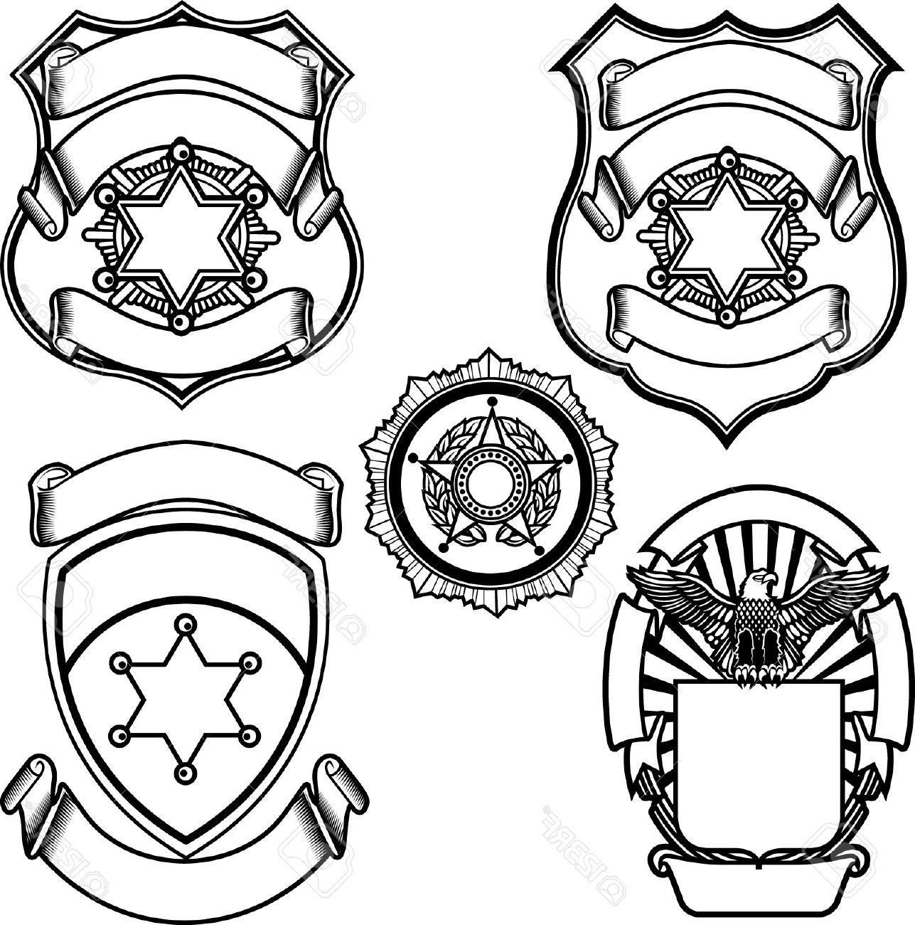 1287x1300 Hd Vector Illustration Of Sheriff Badge Stock Police Design