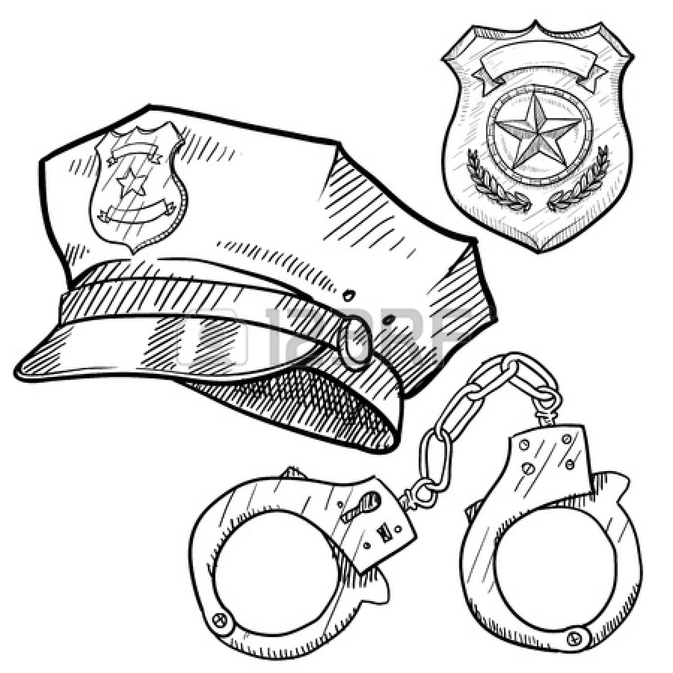 1350x1350 Police Badge Coloring Page Pilular Coloring Pages Center