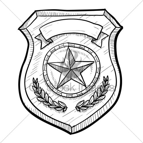 500x500 Cartoon Police Badge Group