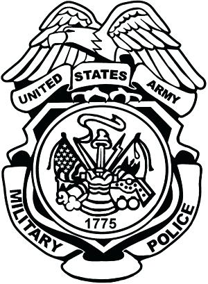 300x409 Police Badge Outline Military Police Badge United States Army Car