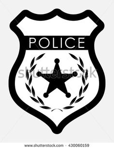 236x308 Police Badge Simple Monochrome Sign. Vector Illustration Isolated