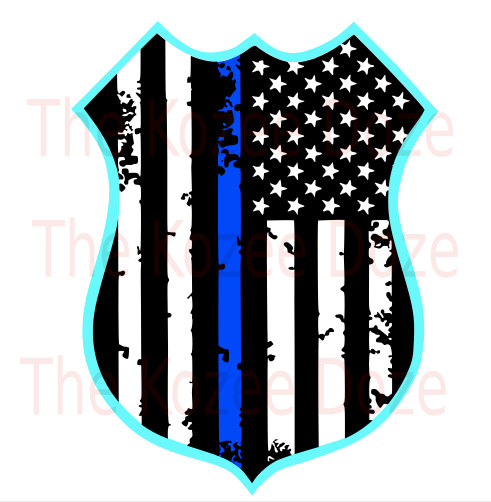 491x502 Police Officer Leo Badge W Distressed Flag Amp Thin By Thekozeedoze