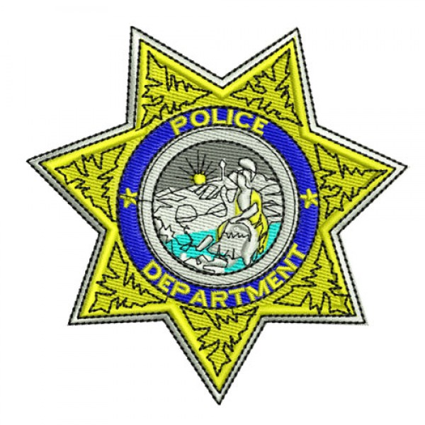 600x600 Star Police Badge Clipart