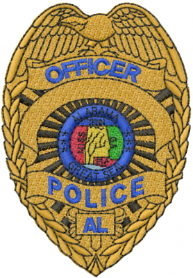 278x400 Alabama Police Badge Embroidery Designs, Machine Embroidery