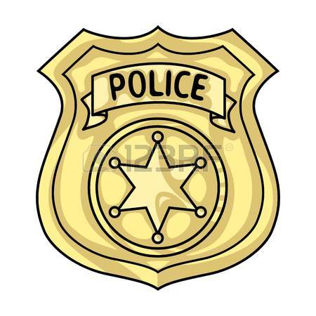 450x450 Police Officer Badge Icon In Outline Style Isolated On White