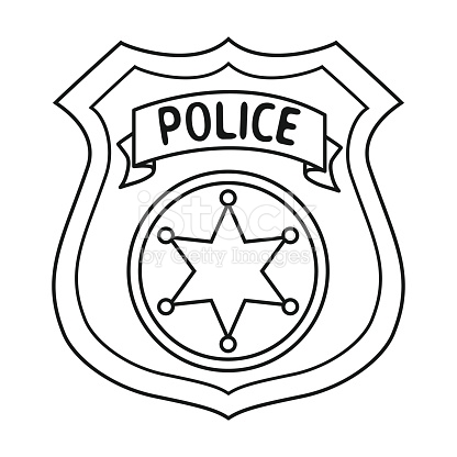 416x416 Police Officer Outline Collection