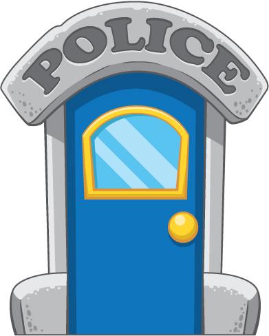 391x488 Door Clipart Police Station