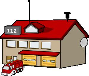 300x254 Fire Station Clip Art