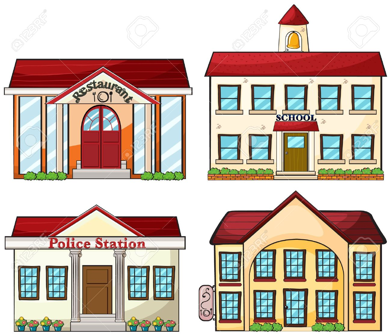 1300x1119 Places Clipart Police Station Building