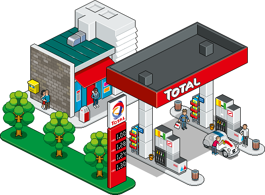 524x385 Station Building Clipart