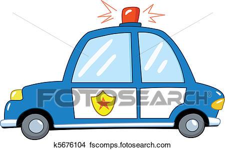 450x300 Clipart Of Police Car Cartoon K5676104