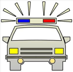 299x294 Police Car Cutout Clip Art