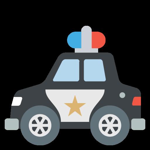 512x512 Police Car Emoji Vector Icon
