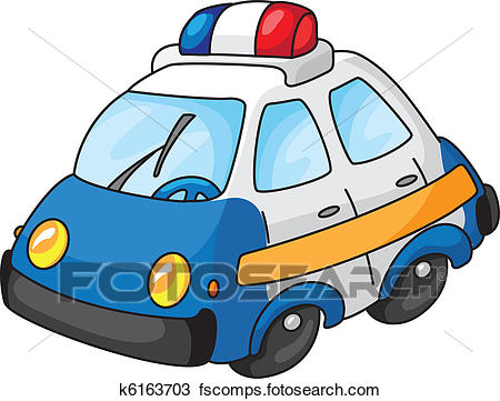 450x361 Clipart Of Police Car K6163703