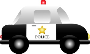 300x181 Police Car Clipart Image