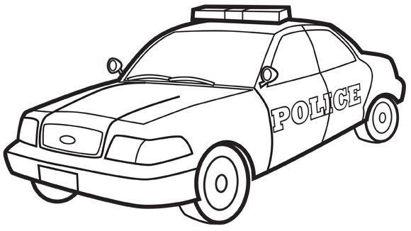 580x326 Police Car Kids Clipart