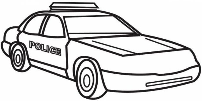 687x344 Coloring Pages Police Car Coloring Pages To Print Printable