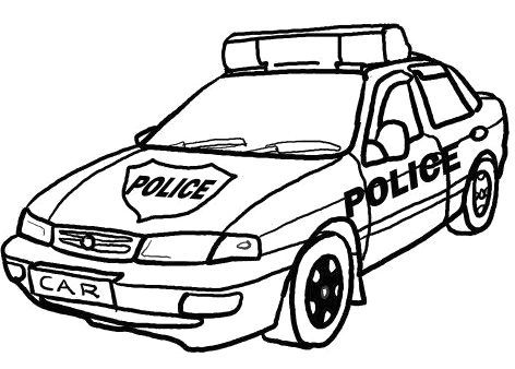 472x338 Police Coloring Pages Traffic Police Car Coloring Page