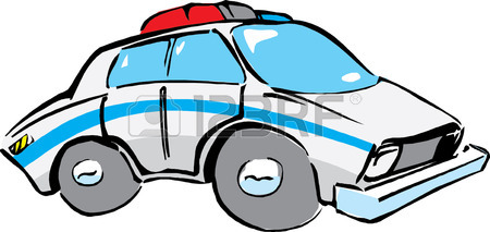 450x213 Police Vehicle On White Background. Police Car Front And Side