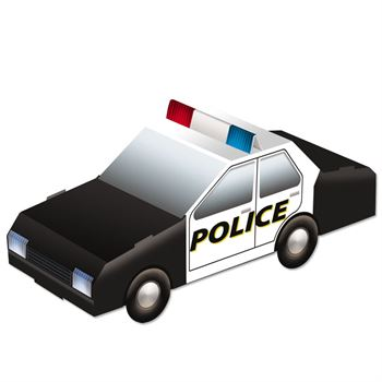 350x350 Pop Out Paper Police Car Positive Promotions