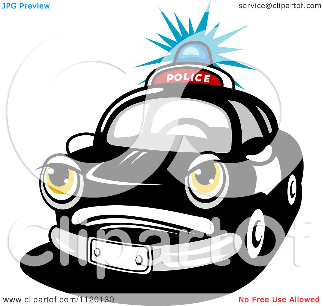 1080x1024 Clipart Black And White Police Patrol Car
