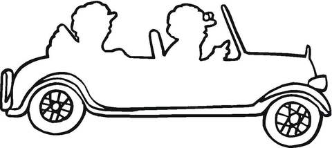 480x214 Couple In A Car Outline Coloring Page Free Printable Coloring Pages