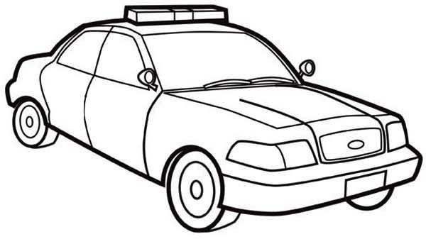 Police car outline free download best police car outline for Police car coloring pages to print