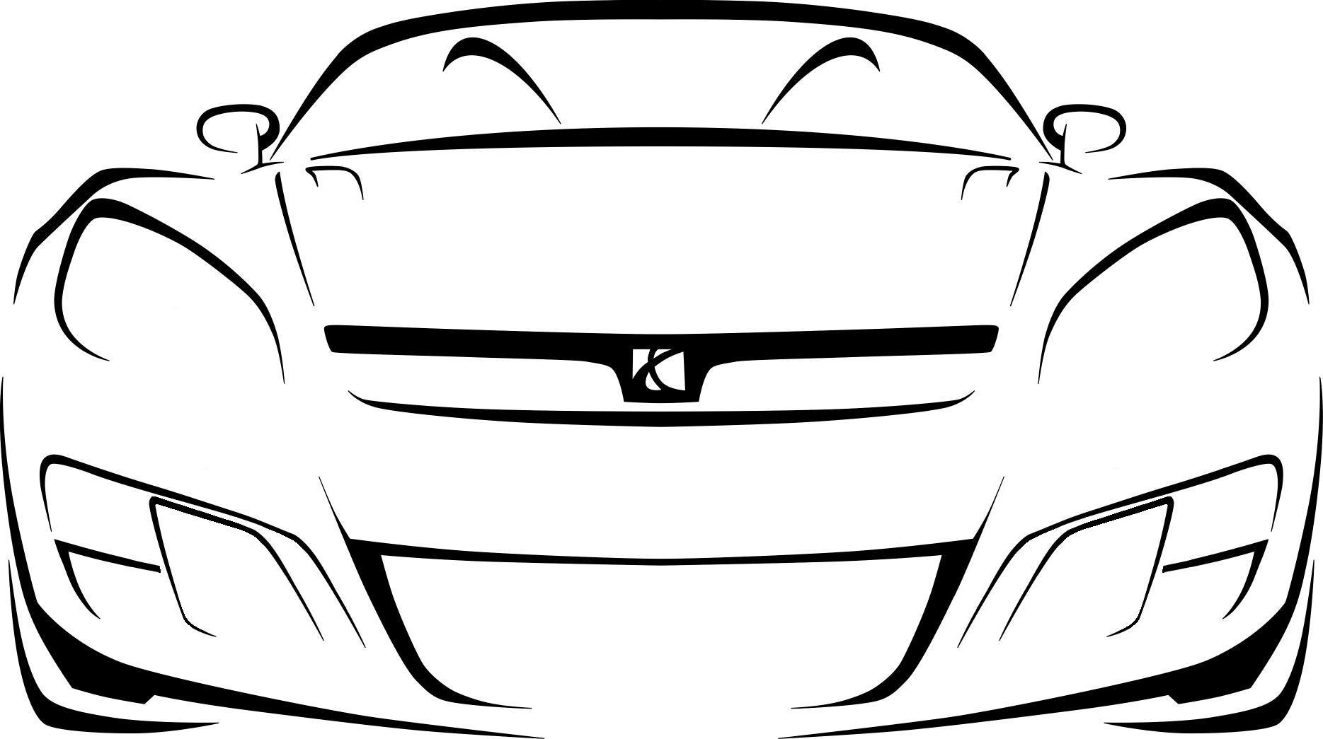 1869x1045 Outline Of A Car