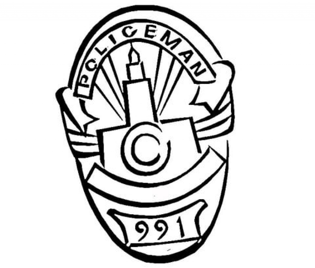 1024x872 Police Badge Coloring Page Awesome Police Badge Coloring Page