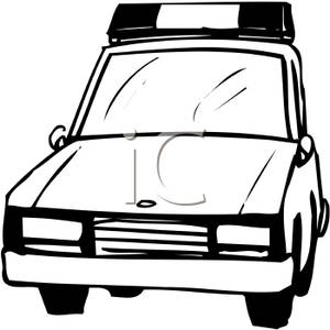 300x300 Police Car Clipart Black And White