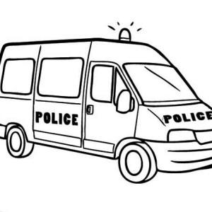 300x300 4wd Police Car Coloring Page Color Luna