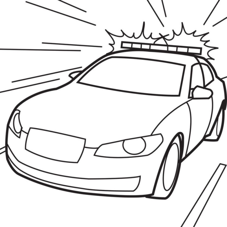 900x900 Police Car Coloring Pages