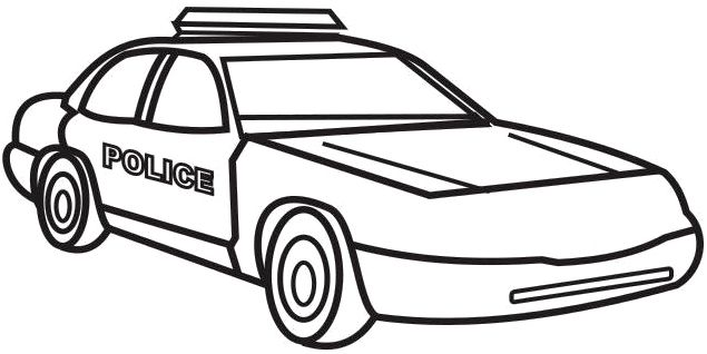 635x318 Police Car Colouring Digital Art Gallery Police Car Coloring Page