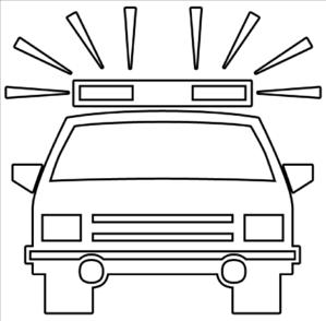 299x294 Police Car Outline Clip Art